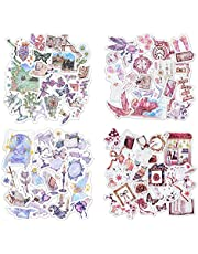 Magic scrapbooking stickers 240 pcs of watercolor patterns assorted washi sticker large quantity multi styles sealed bag pack for scrapbooking supplies decoration of album calendar diary DIY art crafts planners phone