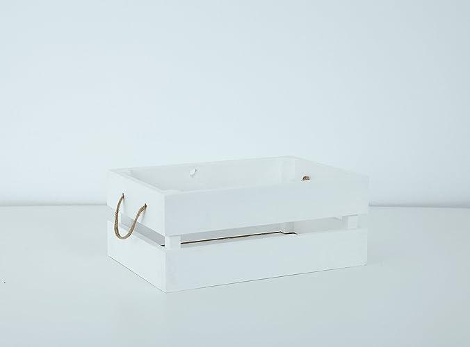 Caja de Madera Blanca Decapada