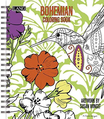 Lang Bohemian Coloring Book by Susan Winget - Book Green Coloring
