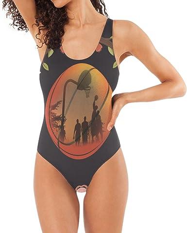 Amazon.com: Bañador de baloncesto con flores, monkini, ropa ...