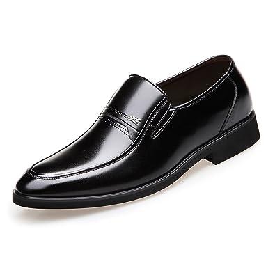 Ruanyi Klassische Herrenschuhe, PU-Leder Loafers Slip-on Weiche Sohle Business Breathed Ausgekleidet Oxfords für Männer (Farbe : Black, Size : 40 EU)