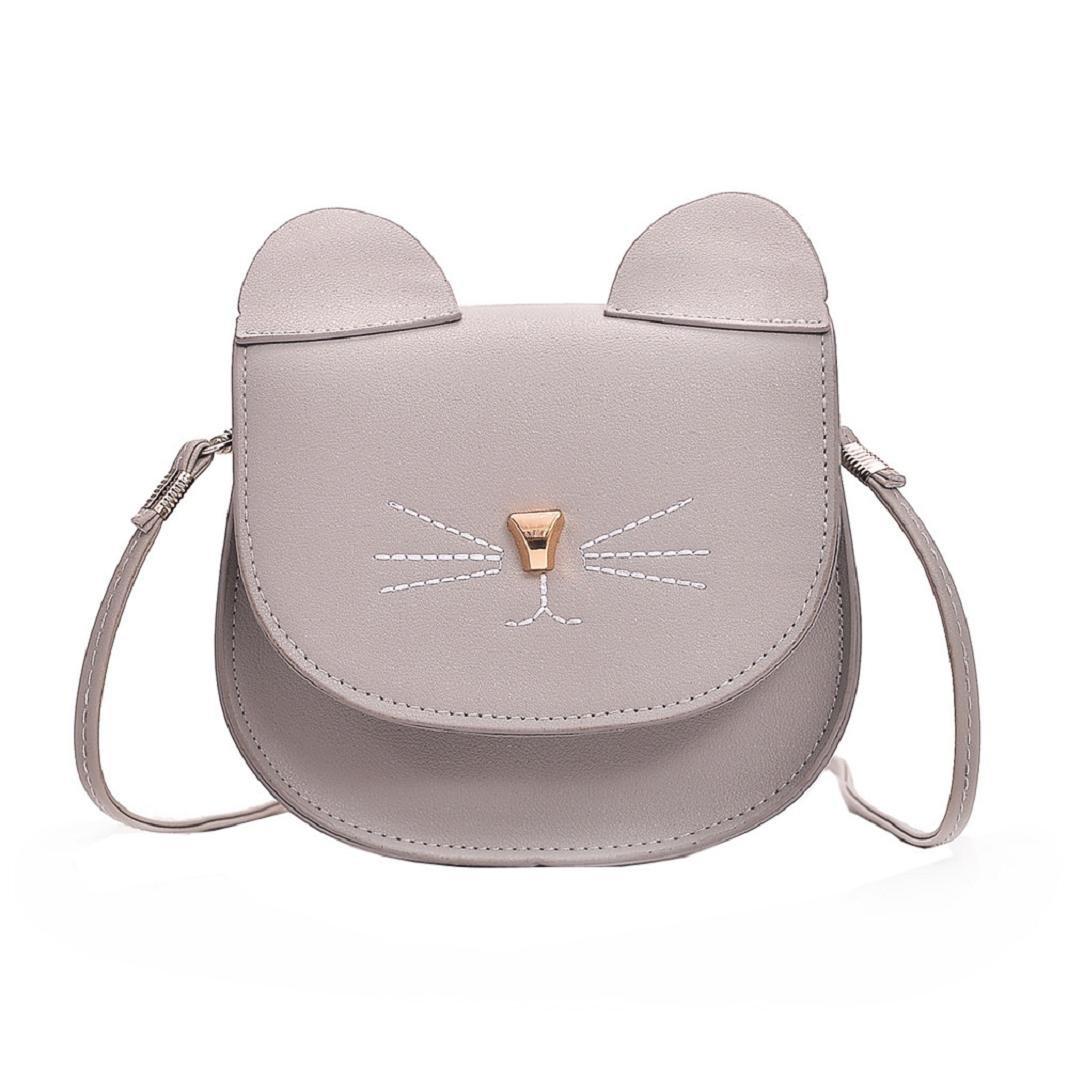 ShenPr Women Purse Kitty Cat Satchel Shoulder Bag Handbag Tote Leather Shoulder Bag Crossbody Bag ShenPourter