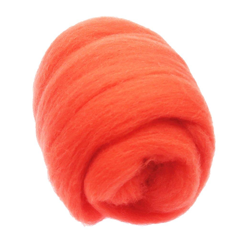 Black Flameer 1Pc 10g Felting Wool Fiber Wool Yarn Roving Needle Felting DIY Hand Crafts
