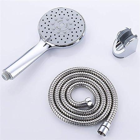con soporte cromado y una manguera de acero inoxidable de 1,5/m Lote de cabezal de ducha universal multifunci/ón con 3 modos