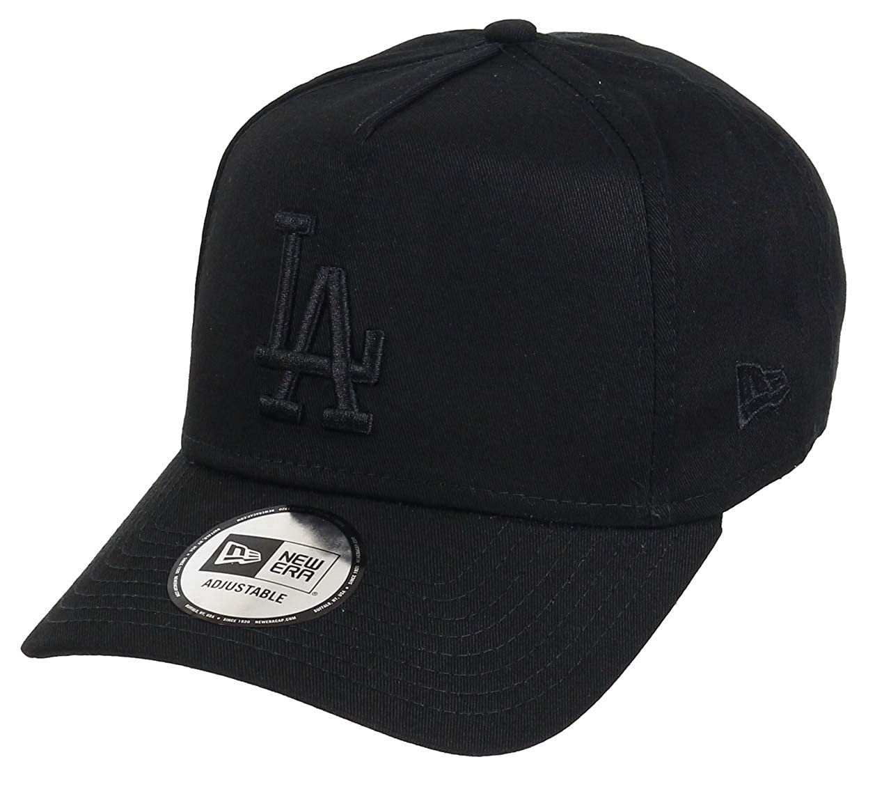 0a33190ca98 New Era Los Angeles Dodgers Adjustable A Frame Cap League Essential Black  Black - One-Size  Amazon.co.uk  Clothing