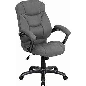 Amazing Flash Furniture High Back Gray Microfiber Contemporary Executive Swivel  Chair With Arms