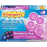 Emergen-C Immune+ (30 Count, Blueberry Acai Flavor) System Support Dietary Supplement Fizzy Drink Mix with Vitamin D, 1000mg Vitamin C Plus Antioxidants & Electrolytes, 0.32 Ounce Packets Review