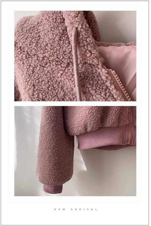CAQQ Frauen-Überbrücker, Sweatshirt-Hoodie-Lange Hülsen-Reißverschluss-Taschen-Vlies-mit Kapuze lose Plus Größe, Sport-Mantel B