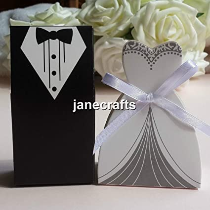 Generic 100pcslot tuxedo dress bride groom box wedding favor box generic 100pcslot tuxedo dress bride groom box wedding favor box candy box party gift junglespirit Image collections