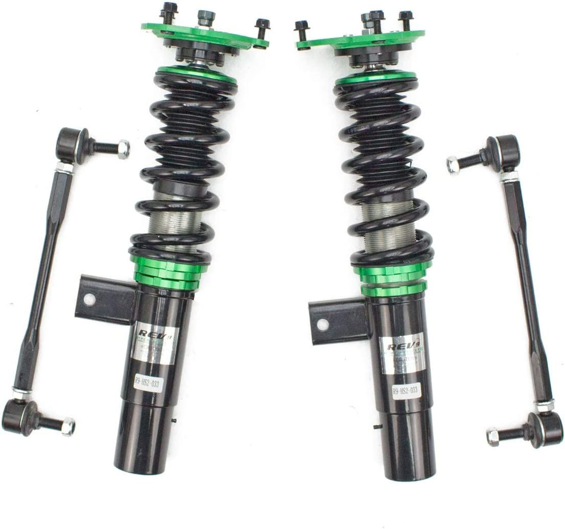32 Damping Level Adjustment MK6 2012-18 Hyper-Street II Coilovers Lowering Kit Rev9 R9-HS2-033/_2 compatible with Volkswagen Jetta Ride Height Adjustable