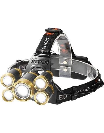 Shanke Linternas Frontal LED Linternas de Cabeza Alta Potencia 8000 Lúmenes, 4 Modos de Iluminación