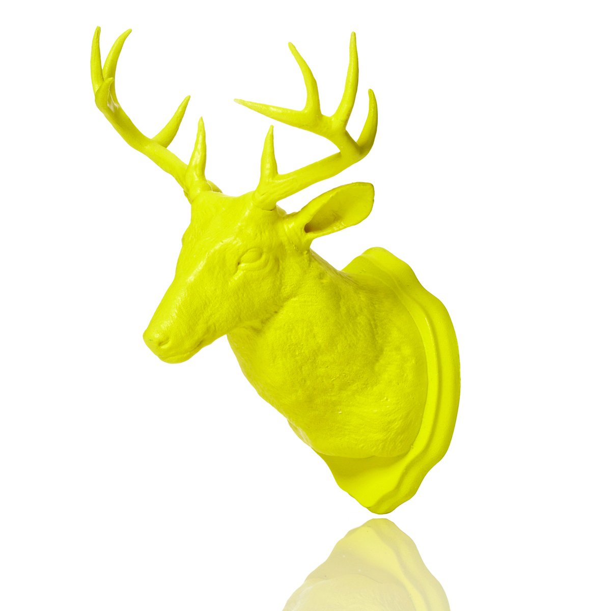 Amazon.com: Urban Taxidermy Magnet and Wall Hook Deer - Yellow: Home ...