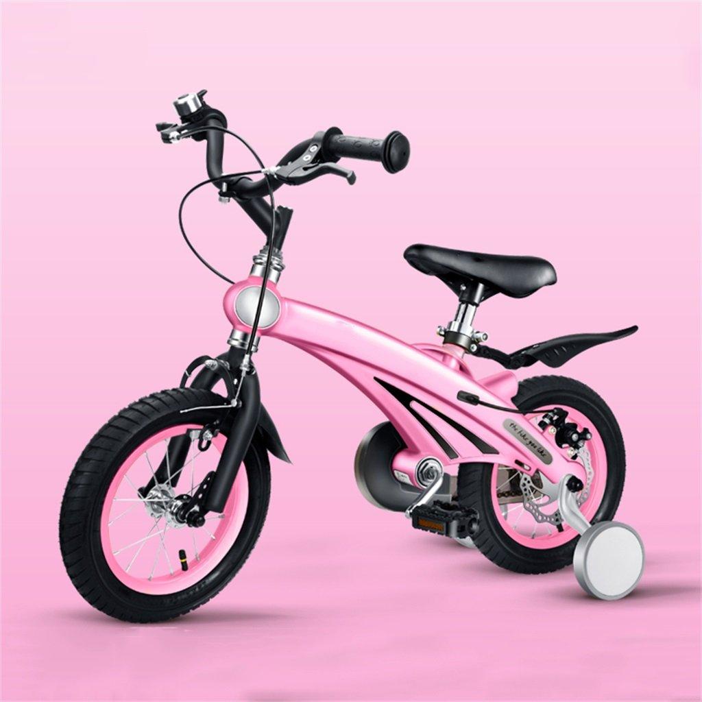 KANGR-子ども用自転車 子供の自転車3歳の男の子/女の子のベビーカー12/14/16インチマウンテンバイク ( 色 : ピンク ぴんく , サイズ さいず : 12inches ) B07BTTW7MB 12inches|ピンク ぴんく ピンク ぴんく 12inches