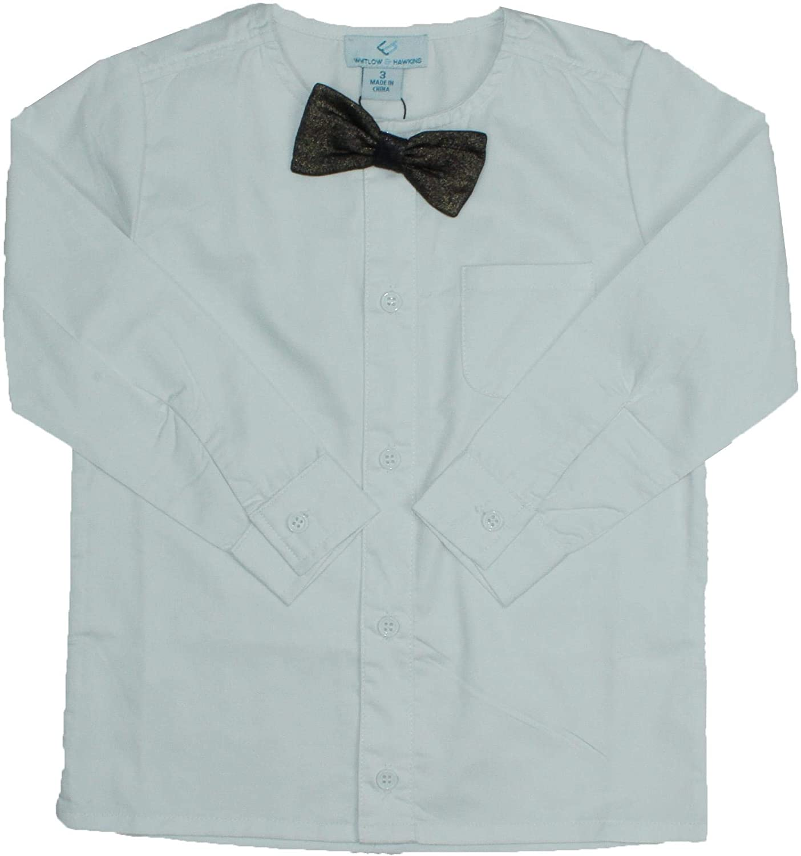 Whitlow /& Hawkins Boys Long Sleeve Dress Shirt with No Collar 6170