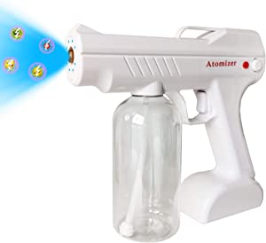 WALTEND Electrostatic Sprayer Fogger Machine, Handheld Rechargeable Nano Fine Mist Adjustable Atomizer, 800mL Electric Cordless Automatic Spray Gun for Home, Office, School, Garden