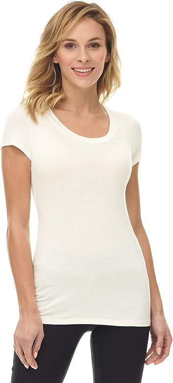 Heirloom Cap Sleeve Tee USA Made Extra Length Layering Comfy Slim Fit Womens Tshirt