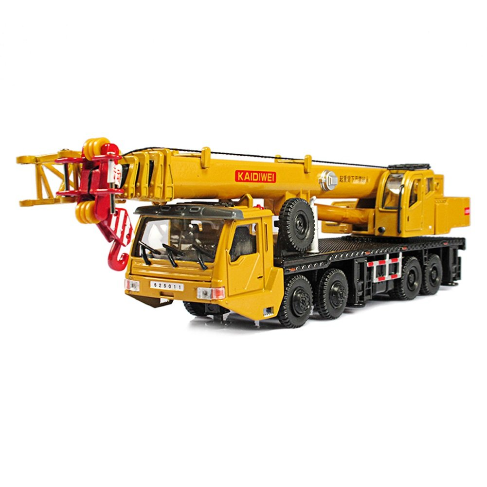 Juguetes para Bebés FEI Crane Alloy Engineering Vehicle Model 1:55 Heavy Crane Big Crane Car Toy Car Temprano Educación