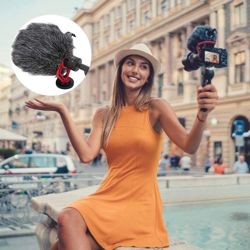 Universal Video Microphone Portable Outdoor ABS Microphone Matching Windproof Wool Cover Filter The Wind Sound Outside and Make The Recording Clearer