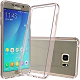 Galaxy Note 5 Clear Case with HD Screen Protector, AnoKe [Scratch Resistant] Acrylic Hard Cover With Rubber TPU Bumper Hybrid Ultra Slim Fit Protective For Samsung Galaxy Note 5 - TM Rose Gold