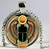 Symbol of Strength, Egyptian Scarab Glass Dome