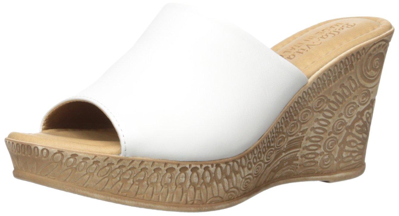 Bella Vita Women's Mileto Wedge Sandal B0163GAVM6 9.5 W US|White