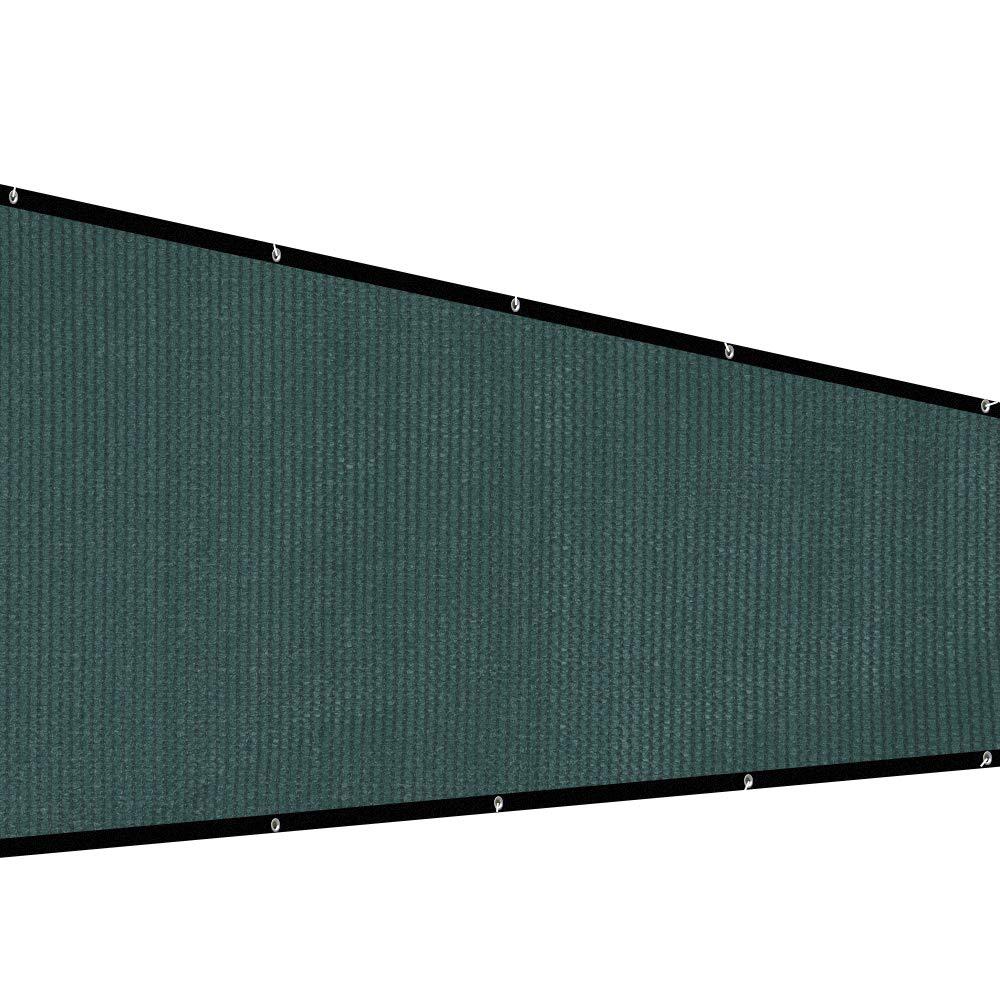 XiaZ Patio Privacy Screen Fence Tarp, Plant Greenhouse Netting Mesh Cloth Dark Green, Deck Balcony Railing Shade Fabric, 130 GSM, 5'7'' x 16'4'' by XiaZ