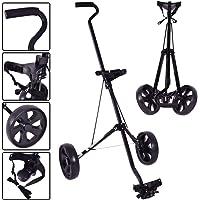 Foldable 2 Wheels Push Pull Golf Club Cart Trolley