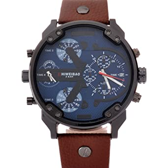 SHIWEIBAO mens watches sports watch quartz-watch leather dress reloj militar wrist watches