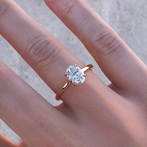 14K18K Gold Ring 5.0 CT Oval Cut Forever One Moissanite Engagement Ring Moissanite Engagement Ring Hidden Halo Bridal Art Deco Ring
