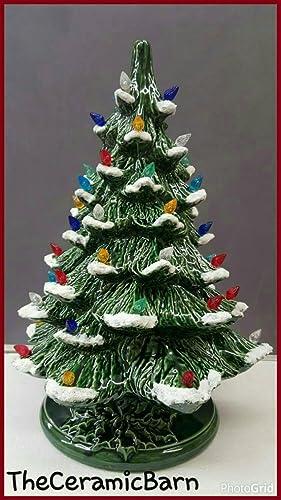 vintage style ceramic christmas tree ceramic christmas tree 17 tall ceramic christmas tree - Large Ceramic Christmas Tree