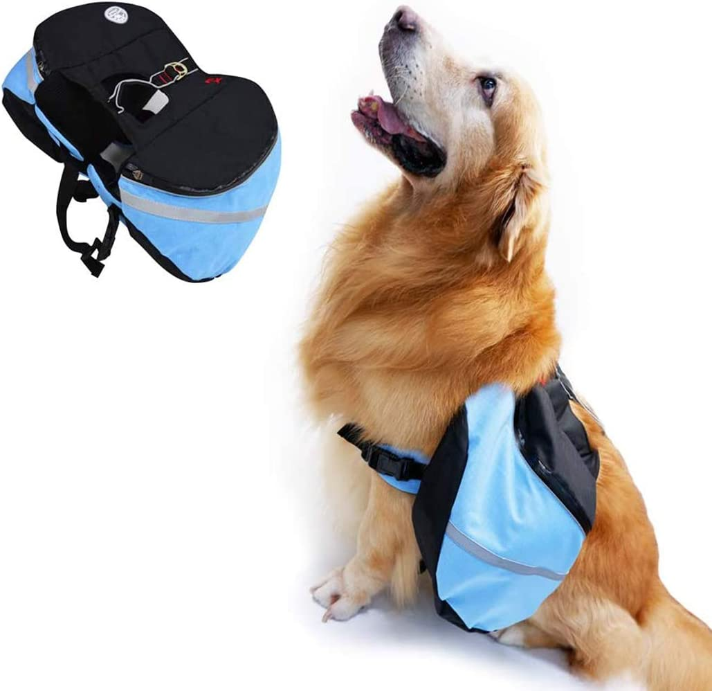 N-A Dog Hiking Packs Saddle Bag Rucksack Pet Transport Bags Small Medium Large Dog for Walking Travel Camping Hiking