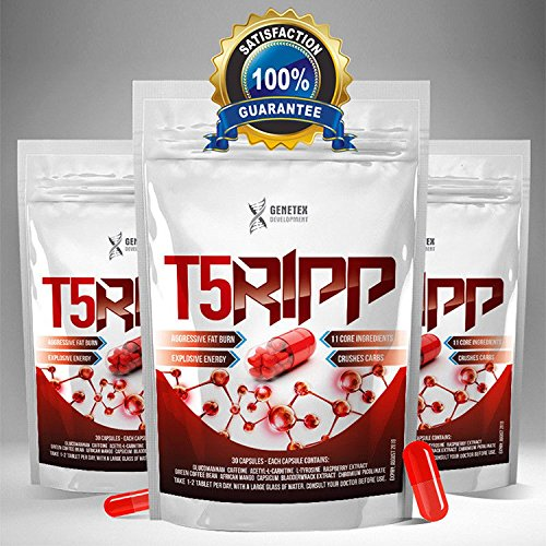 T5Ripp Fat Burners CAPSULES Chromium Carb Blockers, Extreme Weight Loss Pills, Slimming Tablets