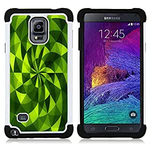 "Hypernova Híbrido Heavy Duty armadura cubierta silicona prueba golpes Funda caso resistente Para Samsung Galaxy Note 4 IV / SM-N910 [Polígono Fan Vibrante Modelo abstracto""]"