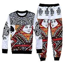 Uhomedecor Men's 3D Printed Joggers Sweatpants/shirts Sportswear Joggers Pants