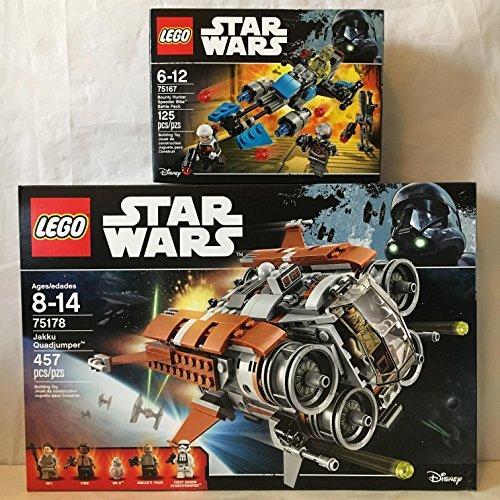 LEGO Star Wars Jakku Quad Jumper & LEGO Star Wars Bounty Hunter Speeder Bike Battle Pack (Bike Lego Quad)