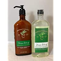 Bath and Body Works Eucalyptus Spearmint Stress Relief Lotion and Wash 2 Piece Set