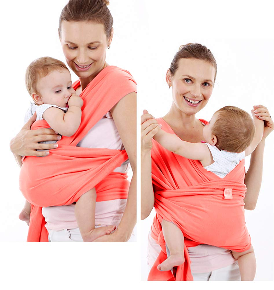 Amazon.com: Baby Wrap Carrier - All-in-1 Stretchy Baby Wraps - Baby Sling - Infant Carrier - Babys Wrap - Hands Free Babies Carrier Wraps | Great (Orange): ...