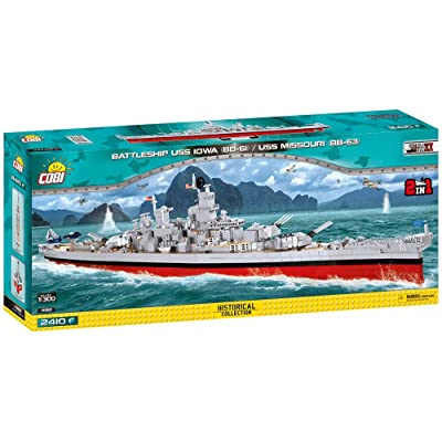 COBI Historical Collection Battleship USS Iowa (BB-61)/USS Missouri (BB-63): Toys & Games