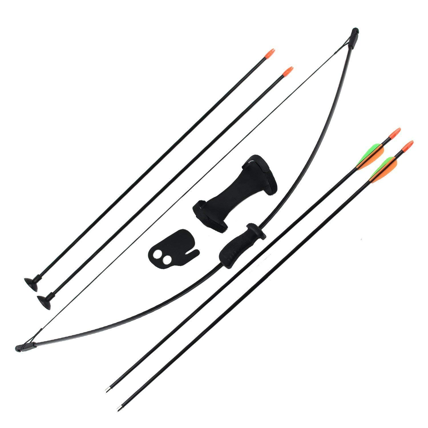 SinoArt Archery Bow and Arrow Set for Kids Children Youth Outdoor Sports Game Hunting Toy Gift Bow Set with 4 Arrows 16 Lb