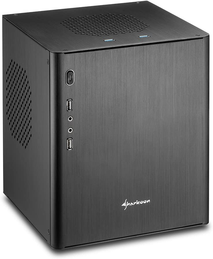 Sharkoon - Caja de Ordenador (Mini-Tower, PC, Aluminio, 2.5