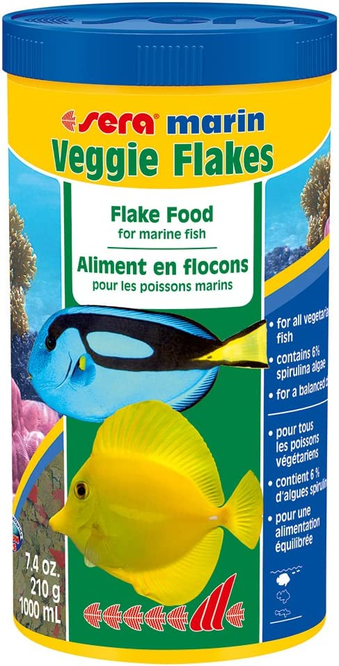 Sera 45014 Marine Veggie Flakes, One Size