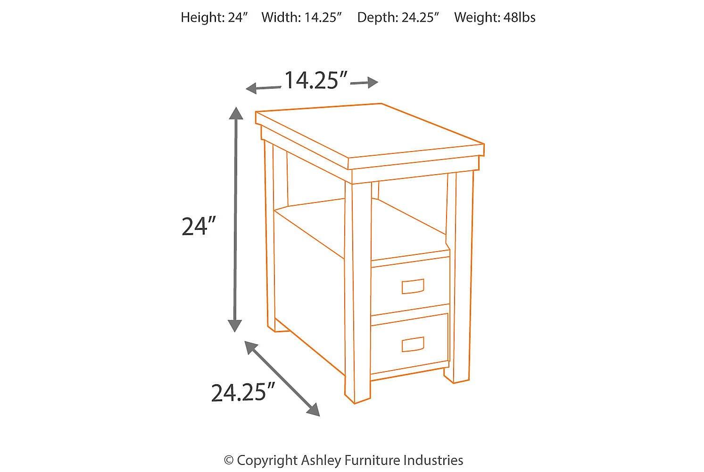 Ashley Furniture Signature Design - Hatsuko End Table - Rectangular - Contemporary - Dark Brown