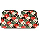 Automotive : BDK Fold-up Sunshade for Windshields - Accordion Style Large Auto Shade (Oriental Flowers)