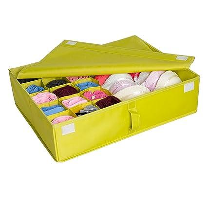 Elevavie Organizador cajones Cajas almacenamiento Divisores plegables Closet Ropa interior Bra Calcetines Bufanda Corbata Organizadores (
