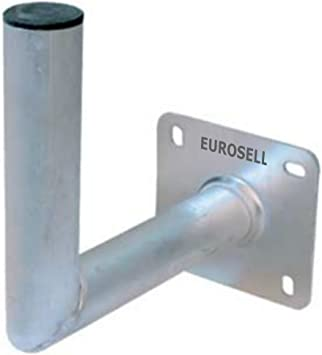 Aluminio Profesional Antena/TV satélite Tazones Soporte de pared 250 x 250 – 50 mm Soporte pared
