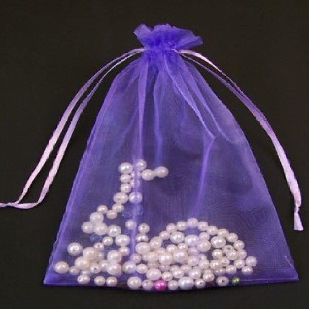 100 Purple ,Organza Bags ,12x17cm Large joydiy