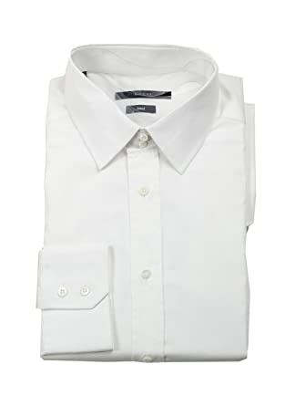 Gucci CL Solid White Dress Shirt Size 43/17 U.S. Fitted: Amazon.es ...