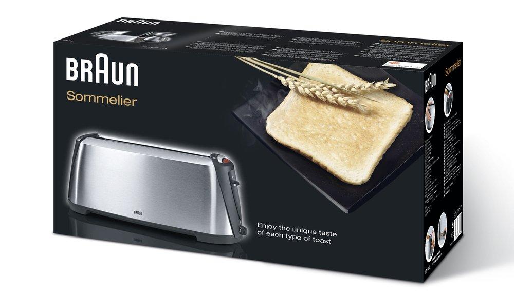 Amazon.com: Braun HT600 Sommelier Stainless Steel Toaster, 220 ...