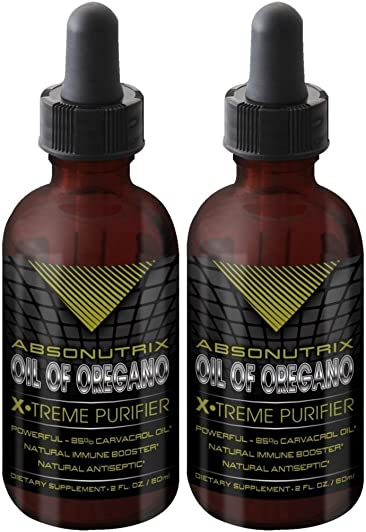 2bottles Absonutrix Oil of Oregano xtreme purifier 85 carvacrol oil 100 pure 2OZ pharmaceutical grade