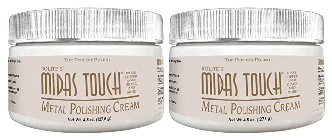 Midas Touch Metal Polishing Cream 1lb Cleaner Polishing Rouge For Sterling Silver Gold Brass Other Metals 1 Pack By Rolite